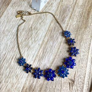 New Kate Spade Brilliant Bouquet Blue Necklace